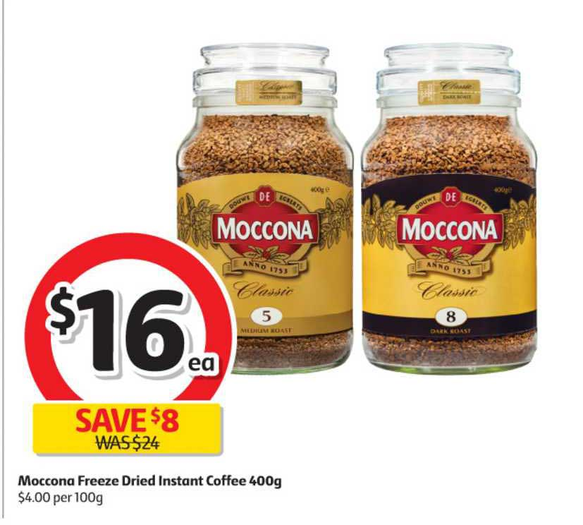 Coles Moccona Freeze Dried Instant Coffee 400g