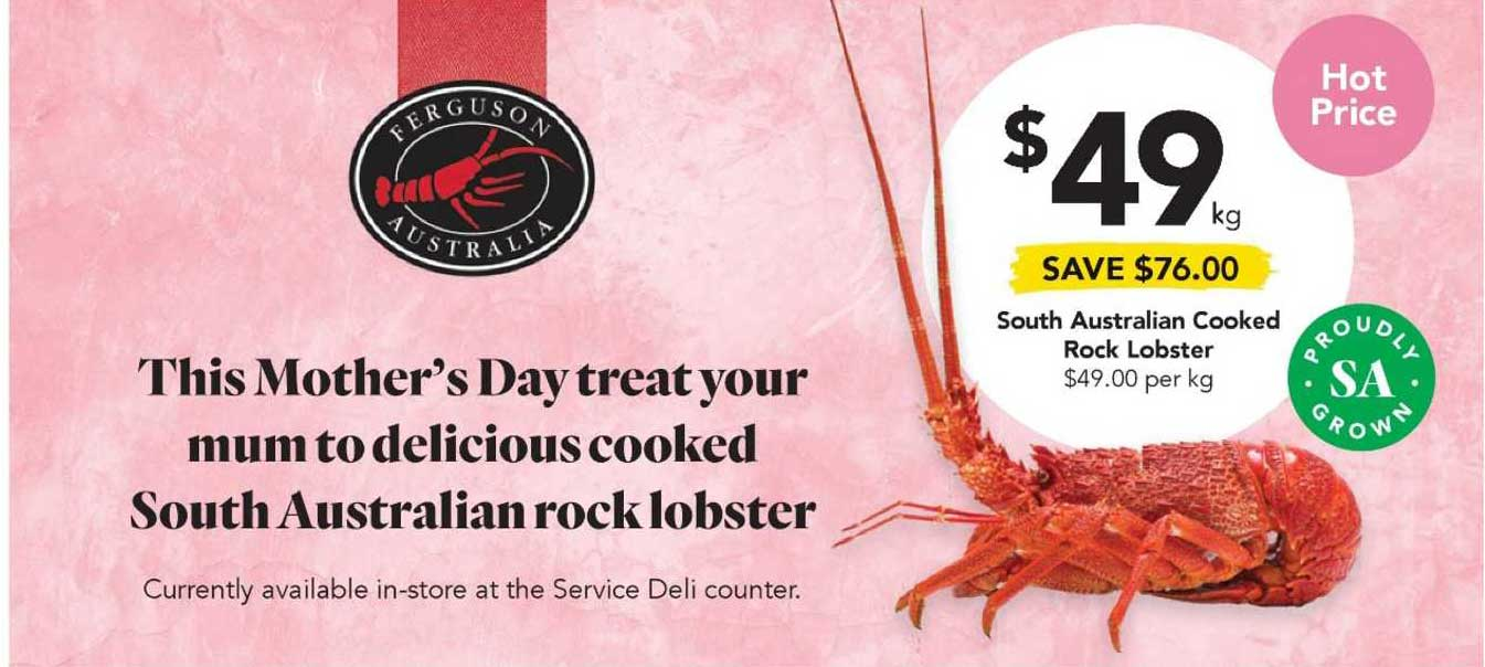 Drakes South Australian Cooked Rock Lobster