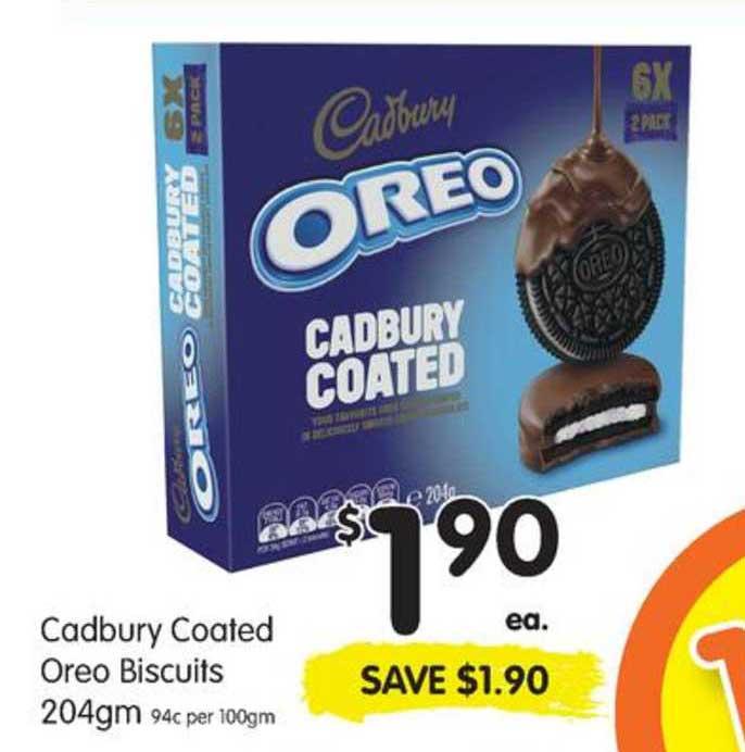SPAR Cadbury Coated Oreo Biscuits 204gm