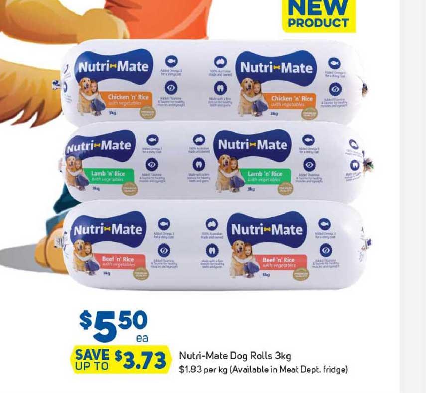 Foodland Nutri-Mate Dog Rolls 3Kg