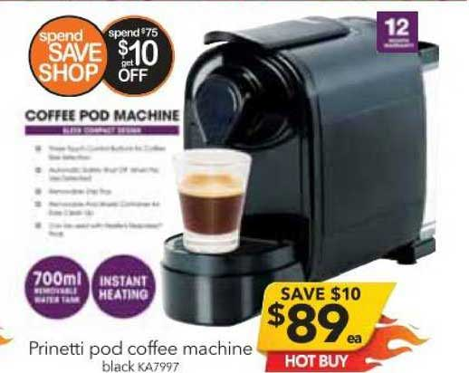 Cheap As Chips Prinetti Pod Coffee Machine