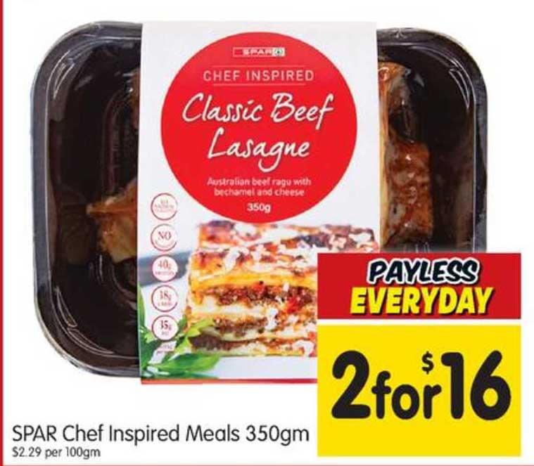 SPAR Spar Chef Inspired Meals 350gm