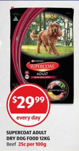 ALDI Supercoat Adult Dry Dog Food 12Kg