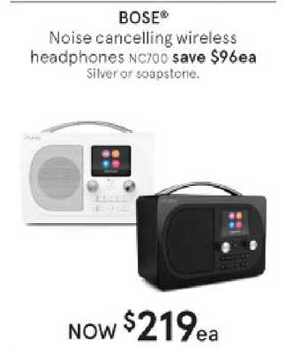 Myer Bose Noise Cancelling Wireless Headphones