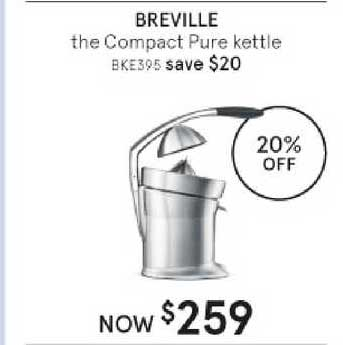 Myer Breville The Compact Pure Kettle
