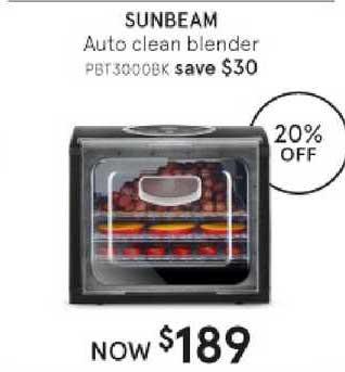 Myer Sunbeam Auto Clean Blender
