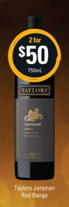 Cellarbrations Taylors Jaraman Red Range
