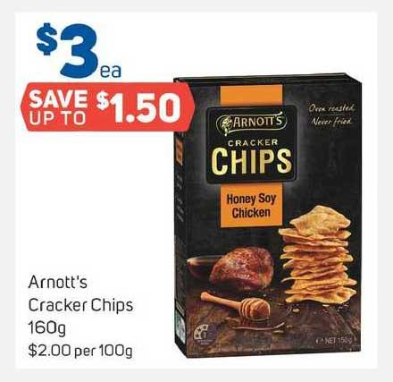Foodland Arnott's Cracker Chips 160g