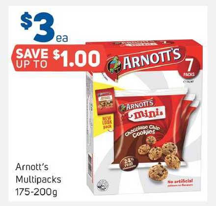 Foodland Arnott's Multipacks 175-200g