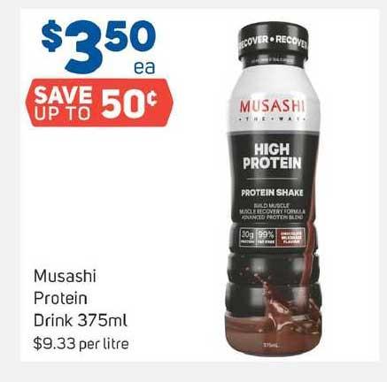Foodland Musashi Protein Drink 375ml