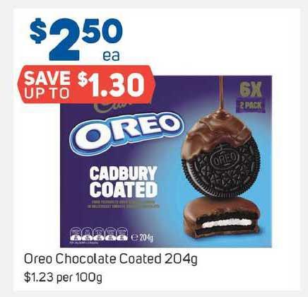 Foodland Oreo Chocolate Coated 204g