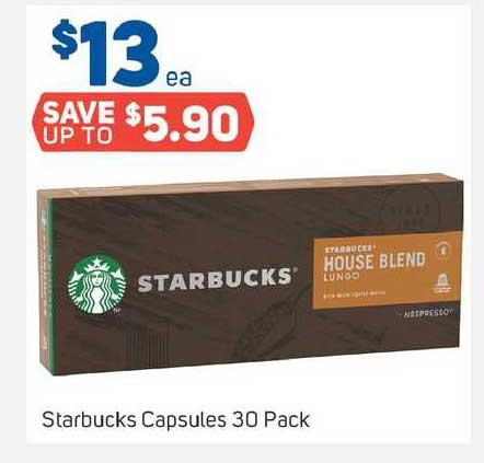 Foodland Starbucks Capsules 30 Pack