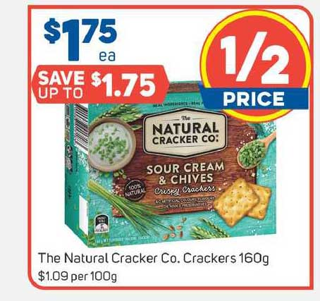 Foodland The Natural Cracker Co. Crackers 160g