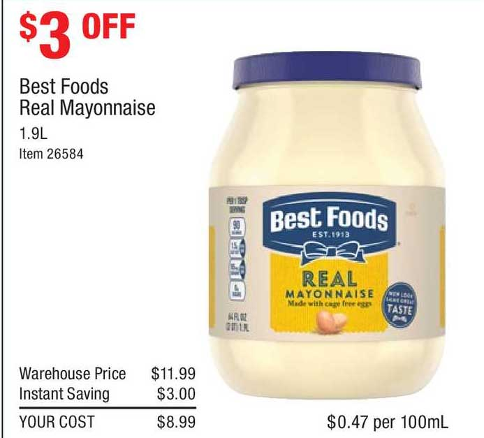 Costco Best Foods Real Mayonnaise
