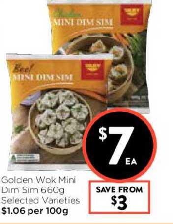 FoodWorks Golden Wok Mini Dim Sim 660g