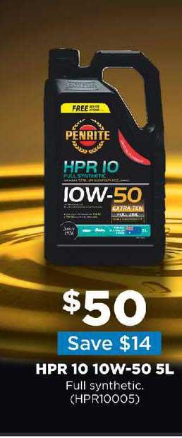 Repco Hpr 10 10w-50 5l Full Synthetic