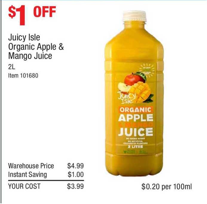 Costco Juicy Isle Organic Apple & Mango Juice