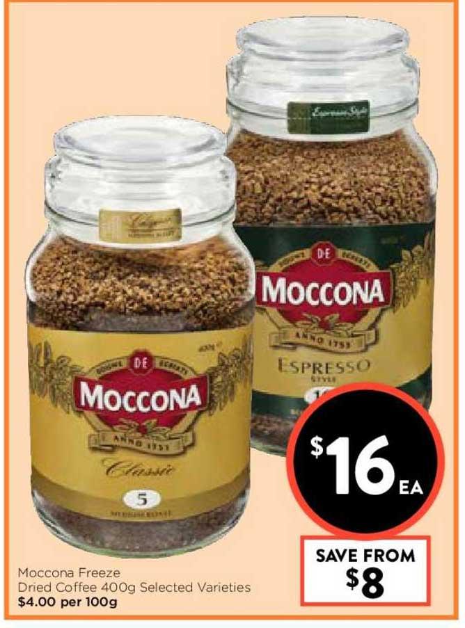 FoodWorks Moccona Freeze Dried Coffee