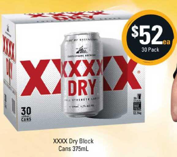 Cellarbrations Xxxx Dry Block Cans