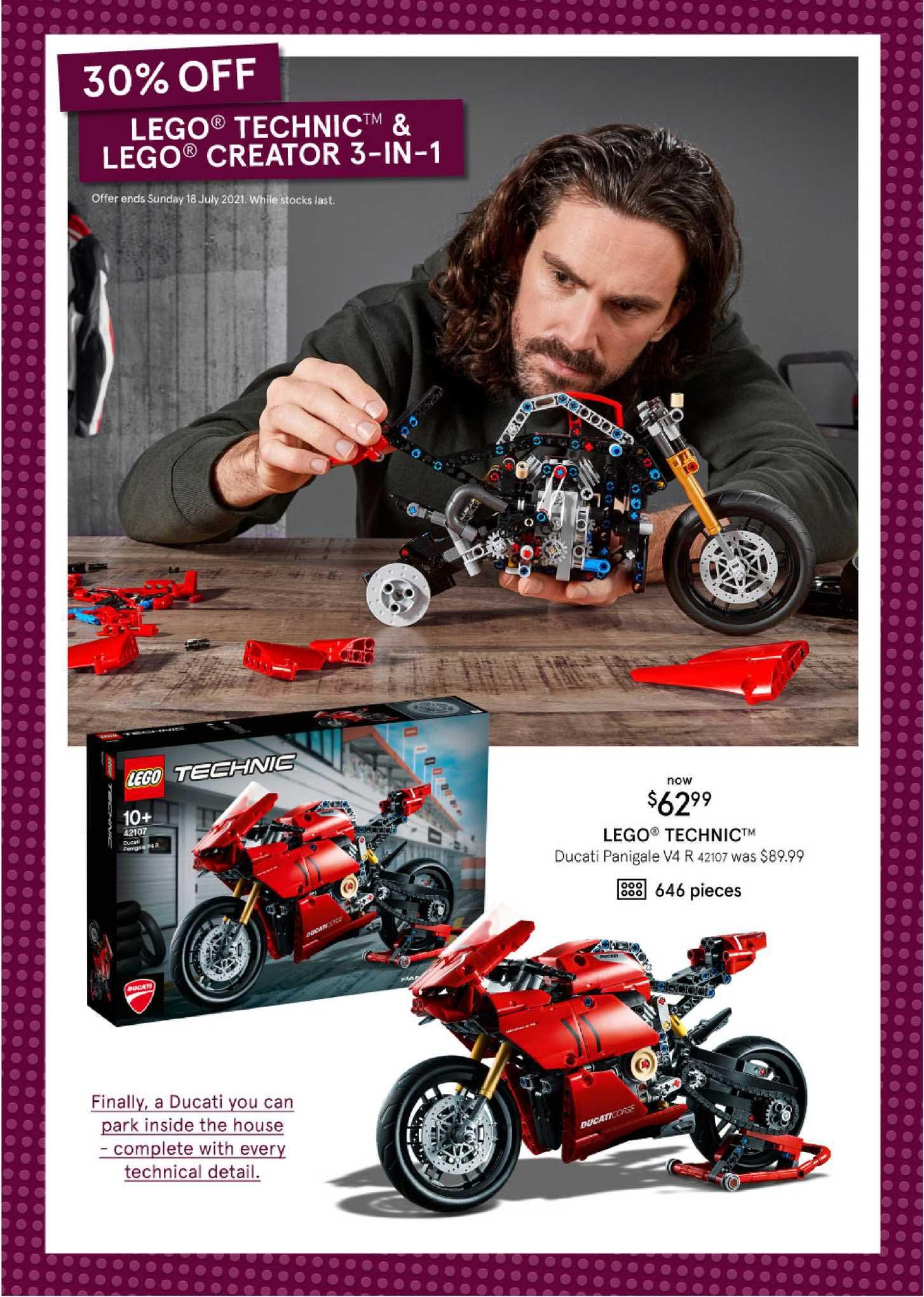 Myer Lego Technic Ducati Panigale V4 R