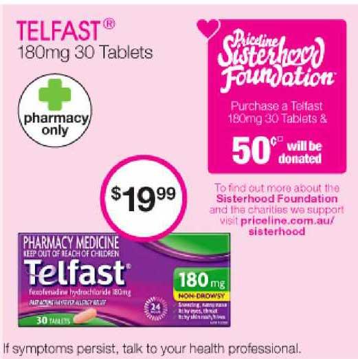 Priceline Telfast 180mg 30 Tablets