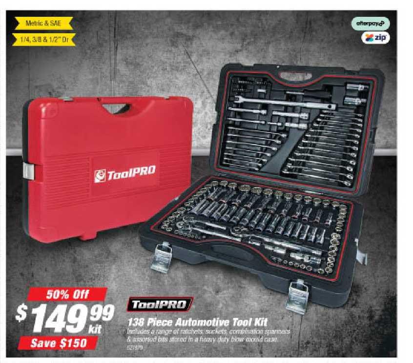Supercheap Auto Toolpro 138 Piece Automotive Tool Kit