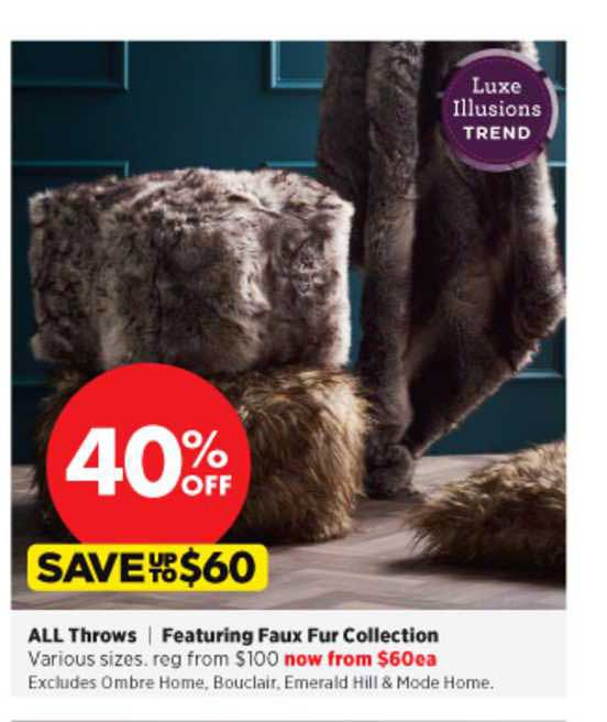 Spotlight All Throws Featuring Faux Fur Collection