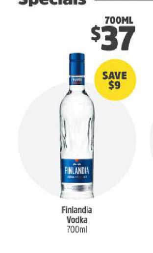 BWS Finlandia Vodka