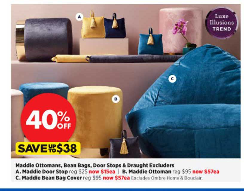 Spotlight Maddie Ottomans , Bean Bags , Door Stops & Draught Excluders