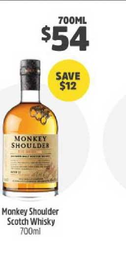 BWS Monkey Shoulder Scotch Whisky