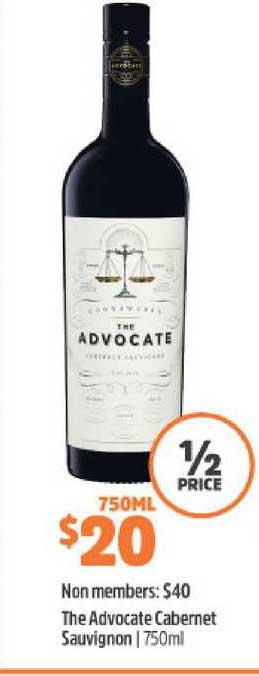 BWS The Advovcate Cabernet Sauvignon