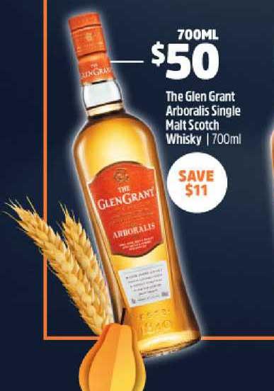BWS The Glen Grant Arboralis Single Malt Scoth Whisky