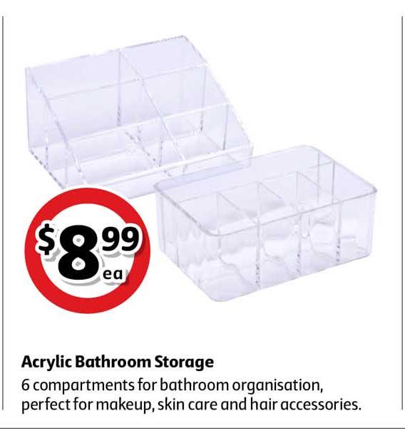 Coles Acrylic Bathroom Storage