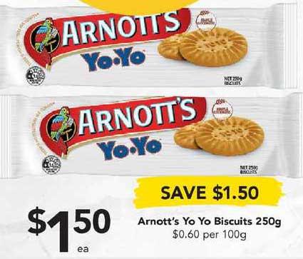 Drakes Arnott's Yo Yo Biscuits 250g