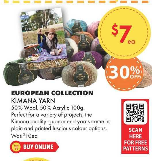 Lincraft European Collection Kimana Yarn