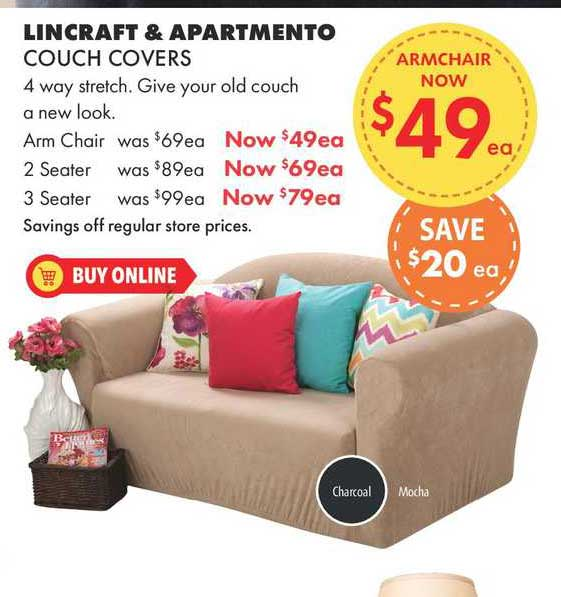 Lincraft Lincraft & Apartmento Couch Covers