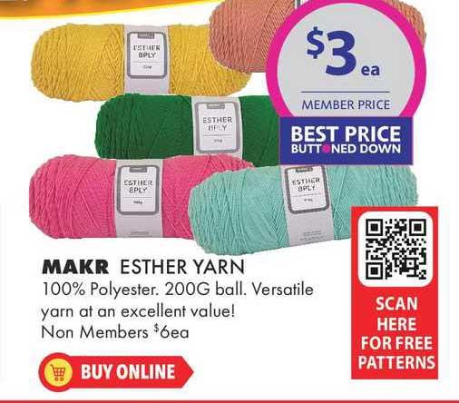 Lincraft Makr Esther Yarn