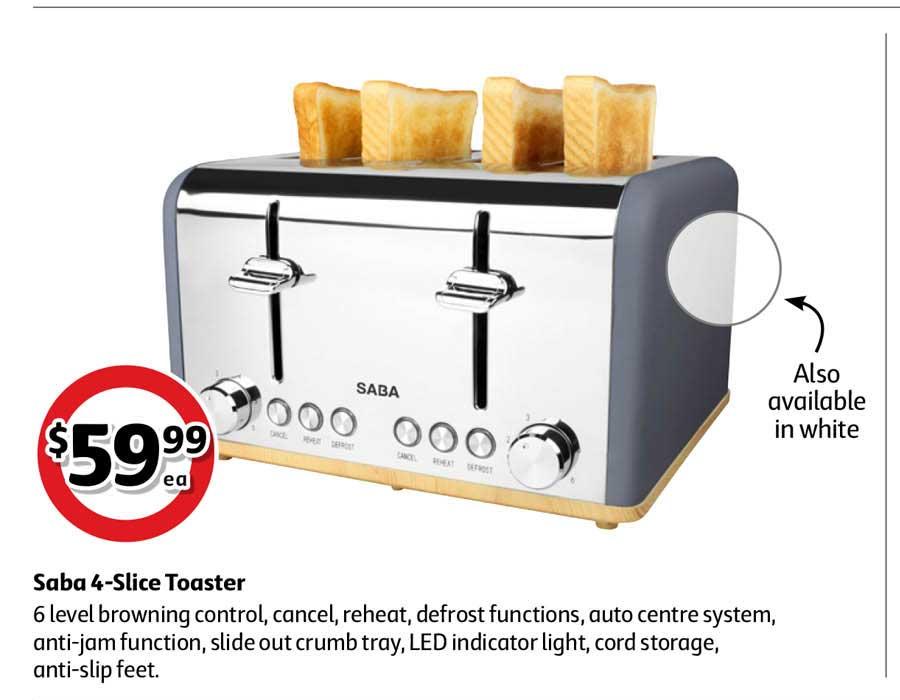 Coles Saba 4-Slice Toaster