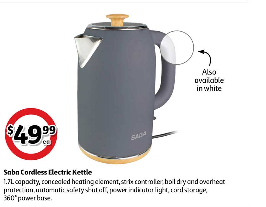 Coles Saba Cordless Electric Kettle