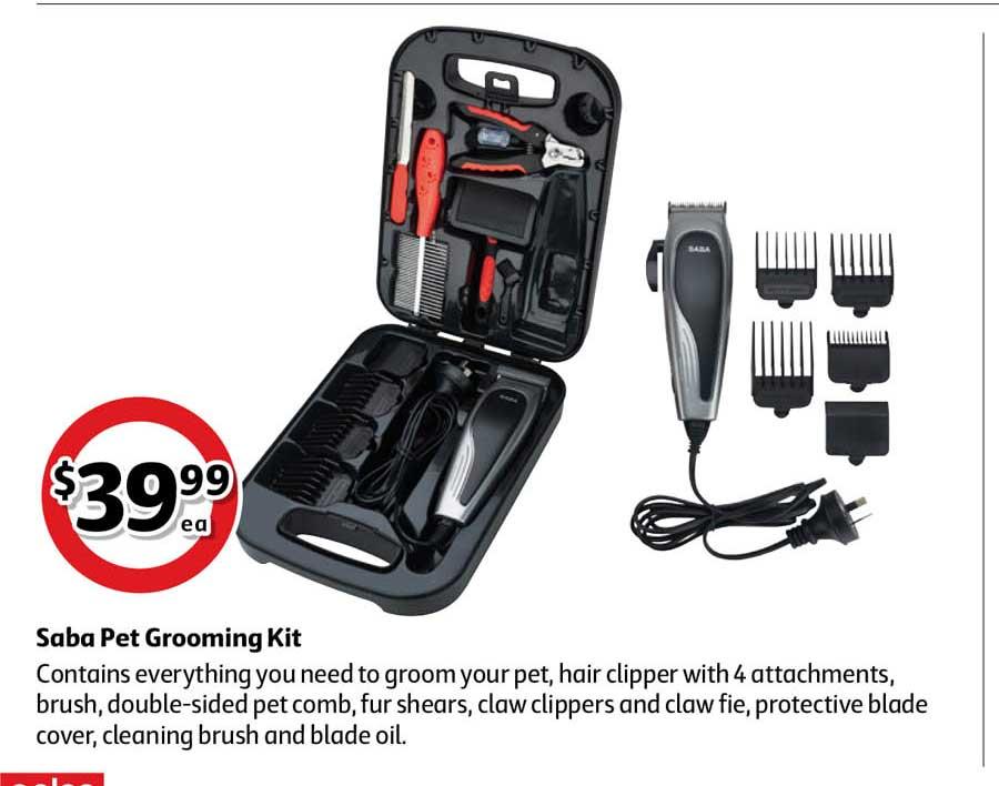 Coles Saba Pet Grooming Kit
