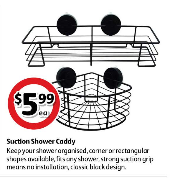 Coles Suction Shower Caddy