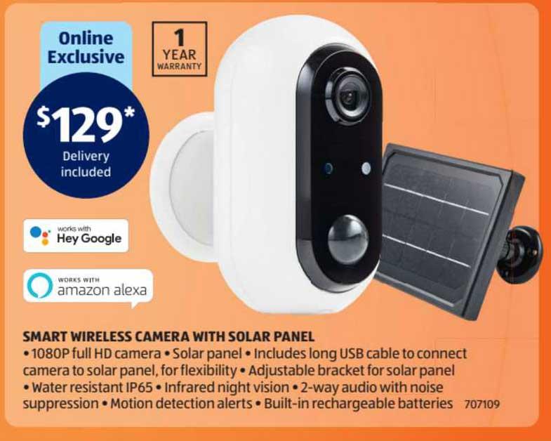 ALDI Smart Wireless Camera With Solar Panel