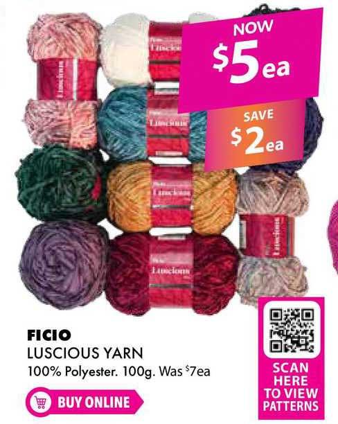 Lincraft Ficio Luscious Yarn