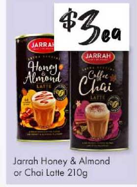 The Reject Shop Jarrah Honey & Almond Or Chai Latte 210g