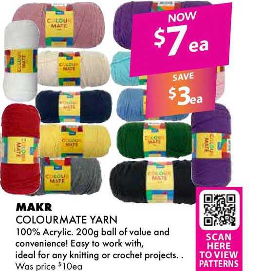 Lincraft Makr Colourmate Yarn