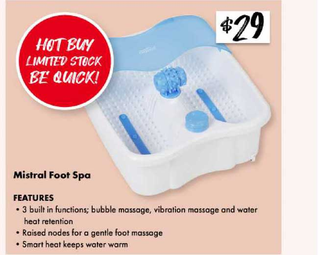 The Reject Shop Mistral Foot Spa