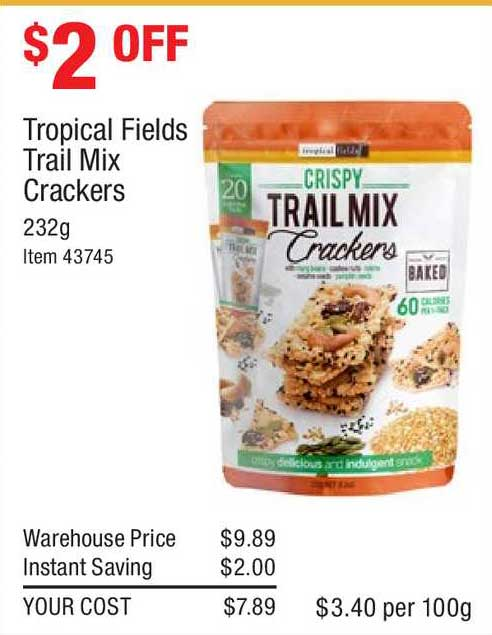 Costco Tropical Fields Trail Mix Crackers