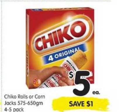 SPAR Chiko Rolls Or Corn Jacks 575-650gm 4-5 Pack