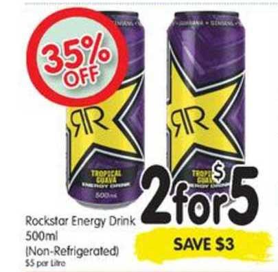 SPAR Rockstar Energy Drink 500ml (non-refrigerated)