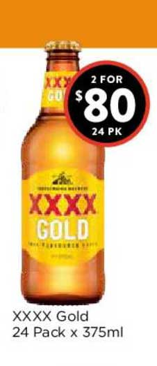 FoodWorks XXXX Gold 24 Pack X 375ml
